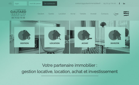 site internet de l'agence immobiliere françois gautard immobilier realise par socotic creation site internet joomla wordpress WooCommerce prestashop webmaster a proximite de chambray les tours 37170