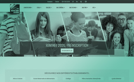 site internet de l'institution notre dame la riche realise par socotic installee a proximite de chambray les tours 37170 creation site internet joomla wordpress WooCommerce prestashop webmaster